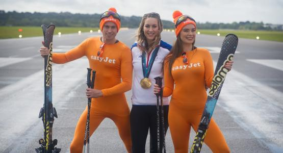 A gold medal campaign takes flight