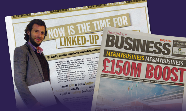 Ed talks marketing, ROI and pirates in Hampshire Business Magazine