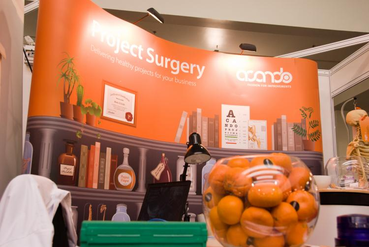CG ensures Acando gets the best treatment with medical-themed exhibition stand.
