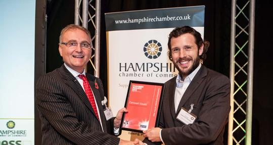 Carswell Gould presented with 'Best Marketing Campaign of the Year' award.