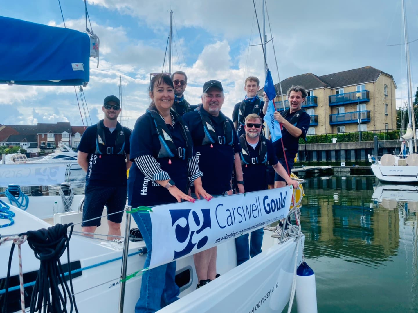 Marketing leaders take to the high seas in Southampton Sailing Week's Gallagher Cup