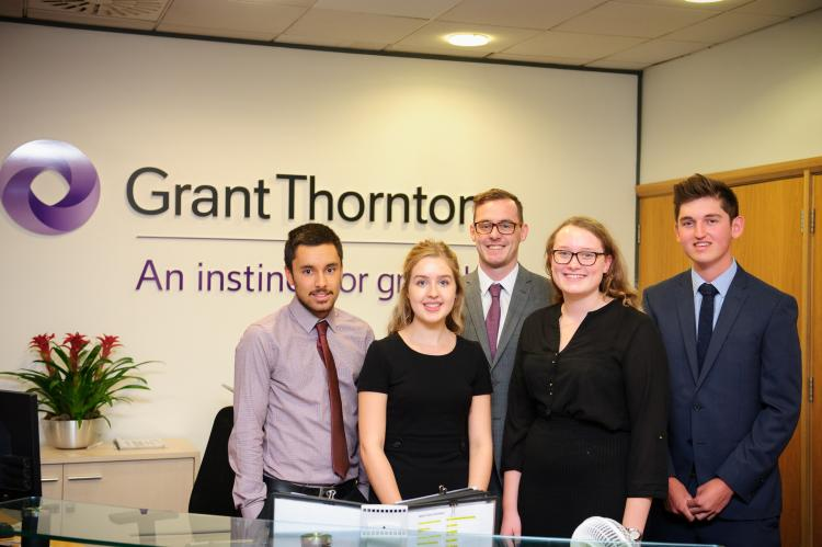 Grant Thornton UK LLP Southampton welcomes five new starters to its school leaver and graduate programme