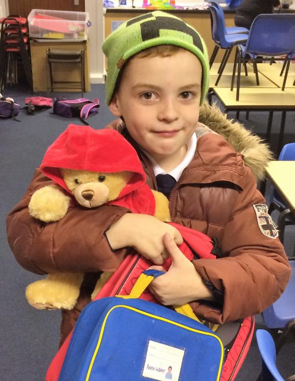 Ted Funnel bear makes young passenger's day