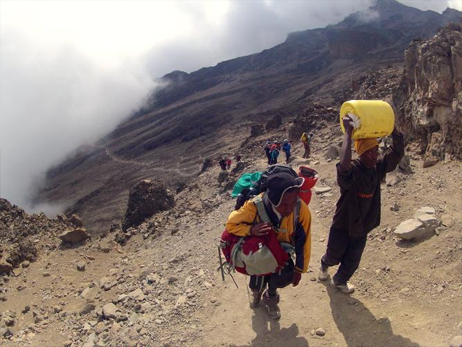 Six days climbing up 5,800m for six hours a day, 39 hours to get home and then six hours in A&E.