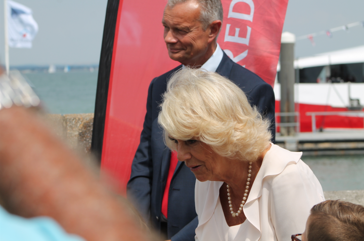 Red Funnel's Red Jet 7 receives royal treatment from HRH The Duchess of Cornwall