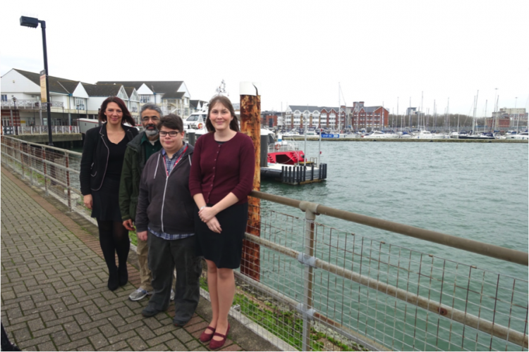City College Southampton art student and Groundwork South to give ABP Town Quay containers a splash of colour