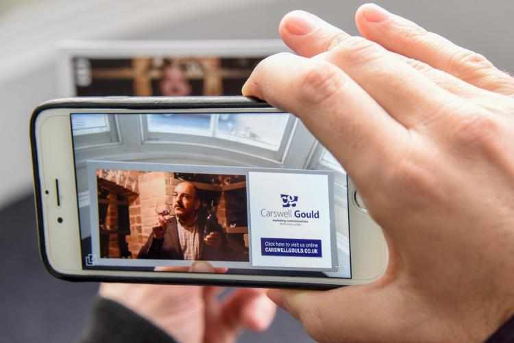 Carswell Gould Christmas wine gifts come to life with augmented reality