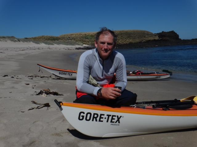 GOSS GOES OVERBOARD - But reaches half way point in paddling challenge